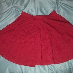 Dresses & Skirts - Burgundy Skater Skirt